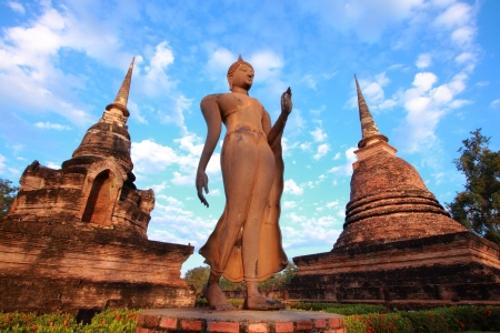 hunker: Buddha image at Sukhothai Historical Park, Thailand Stock Photo