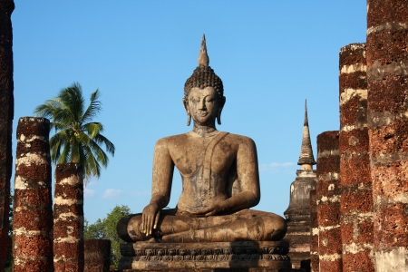 Buddha image at Sukhothai Historical Park, Thailand photo