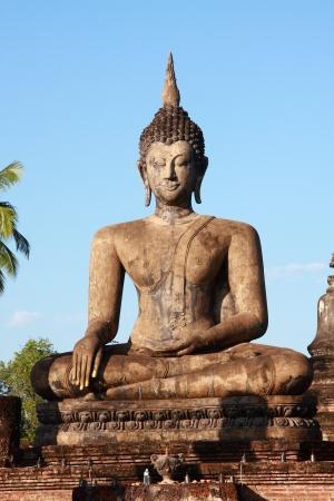 Buddha image at Sukhothai Historical Park, Thailand photo