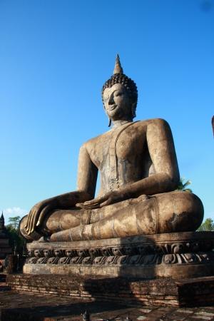 Buddha image at Sukhothai Historical Park, Thailand Stock Photo - 22042995