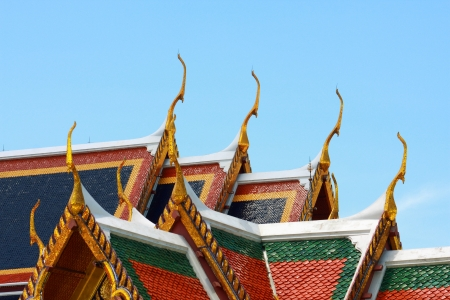 Temple thai roof on the top photo