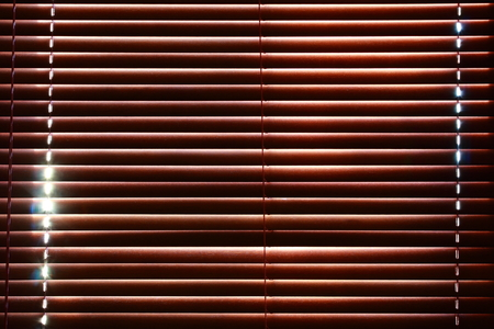blinds wood pattern closed sunlight  Stock Photo