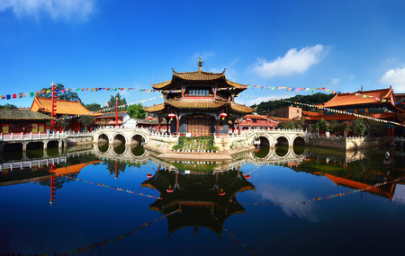 kunming: Yuantong Kunming Temple panorama, Kunming capital city of Yunnan, China Stock Photo