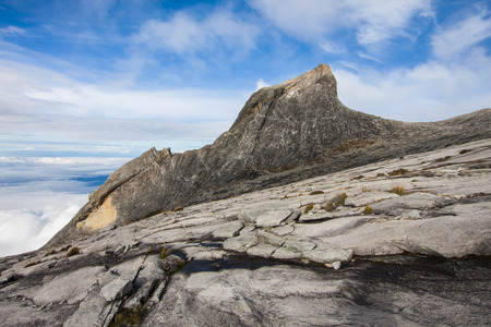 Mount Kinabalu is the highest mountain on the island of Borneo(4,095m). photo
