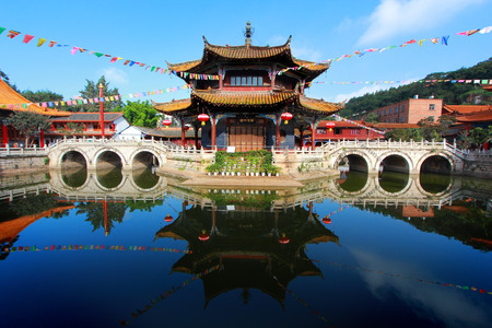 Yuantong Kunming Temple , Kunming capital city of Yunnan, China photo