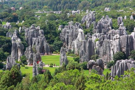 kunming: limestone Stone forest, Kunming Yunnan China. Stock Photo