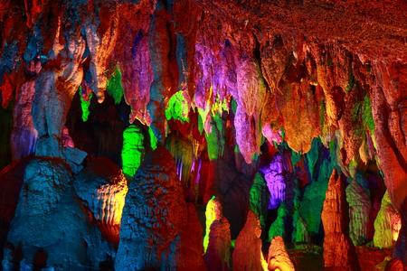 Jiuxiang karst cave scene. Taken in the Jiuxiang, Shilin(stone forest), Yunnan, China. The  Jiuxiang is near the Shilin(stone forest) of Yunnan.