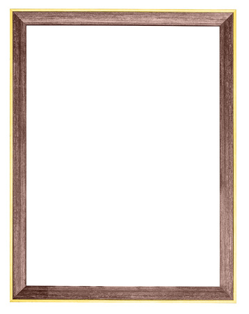 Wooden Gilt Photo Frame Isolated On White Background With Clipping ...