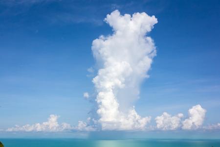 sky  sea: Rain Cloud mare cielo blu paesaggio
