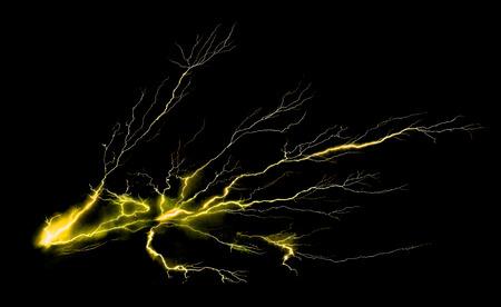 thunder bolt on black background