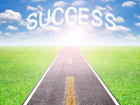 The motivation road to goal success in the future.