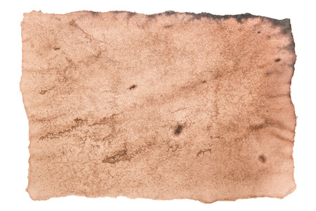 torn paper background: old torn or ripped paper brown texture isolated on white background