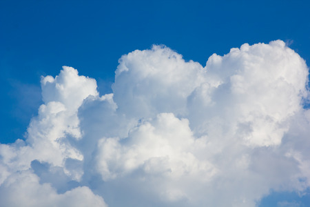 air view: blue sky over cloud layer air view background only Stock Photo