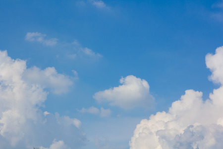 disperse: blue sky over cloud layer air view background only Stock Photo