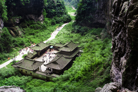 national fruit of china: Three Natural Bridges place in Wulong, China Stock Photo