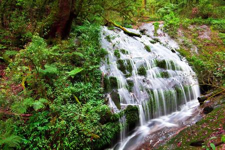 sa: Larn Sa Dej waterfall in doi inthanon national park, Chiang mai,Thailand. Stock Photo