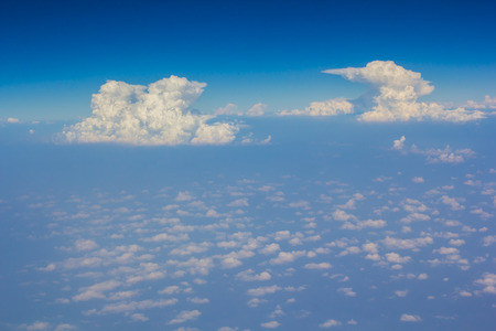 disperse: sky over cloud layer air view background only