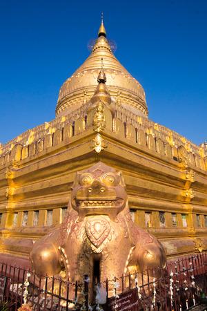 archeological site: Shwezigon Pagoda in Bagan archeological site