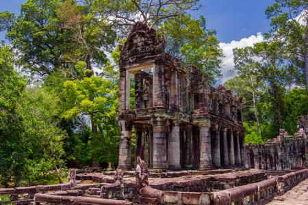 reap: ancient of Prasat Preah Khan temple,  in Siem reap, Cambodia