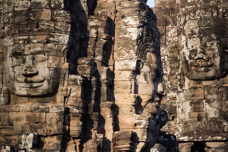 prasat bayon: ancient of Prasat Bayon temple, Angkor Thom , is popular tourist attraction in Siem reap, Cambodia Stock Photo