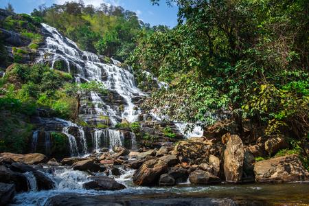 Mae Ya Waterfall, Chiang Mai, Thailand Stock Photo - 58147182