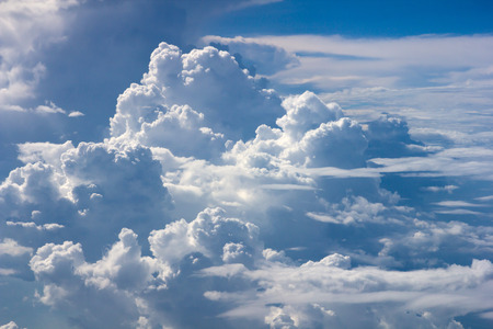 tranquil atmosphere: blue sky scatter spread cloud background