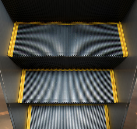 angle view: escalator from high Angle view