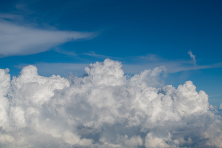 cloud scatter spread on blue sky background Stock Photo