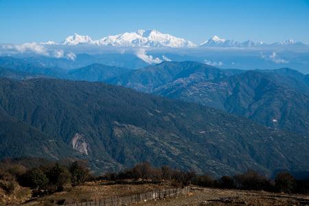 Kangchenjunga mount landscape during blue sky day time, Reklamní fotografie
