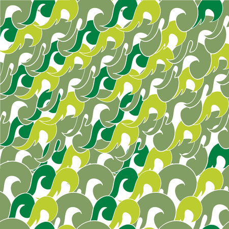 vector seamless pattern with abstract waves Ilustração