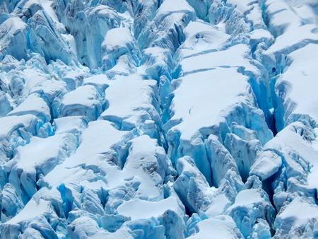 fox glacier: Crevasses of Fox Glacier in New Zealand Stock Photo