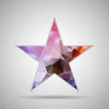 mobil: Abstract Creative concept vector icon of star for Web and Mobile Applications isolated on background. Vector illustration template design, Business infographic and social media, origami icons.Abstract Creative concept vector icon of star for Web and Mobil Illustration