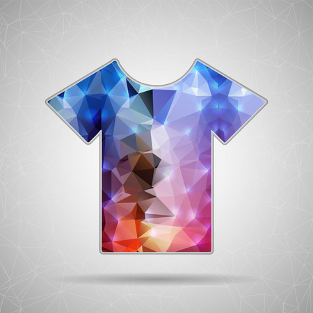 tee shirt template: Creative concept vector icon of tee shirt for Web and Mobile Applications isolated on background. Vector illustration creative template design, Business software and social media.