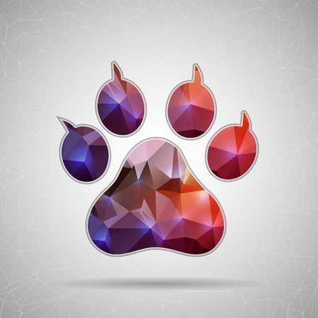 Creative concept vector icon of animal footprint for Web and Mobile Applications isolated on background. Vector illustration creative template design, Business software and social media. Vector