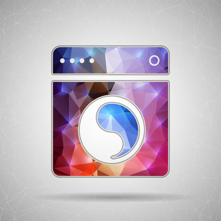 Abstract Creative concept vector icon of washing machine for Web and Mobile Applications isolated on background. Vector illustration template design, Business infographic and social media, origami. Vector