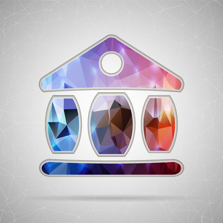 Abstract Creative concept vector icon of the exchange building for Web and Mobile Applications isolated on background. Vector illustration template design, Business infographic and social media. Vector
