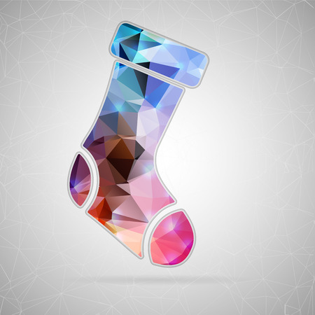 hosiery: Abstract Creative concept vector icon of sock for Web and Mobile Applications isolated on background. Vector illustration template design, Business infographic and social media, origami icons.