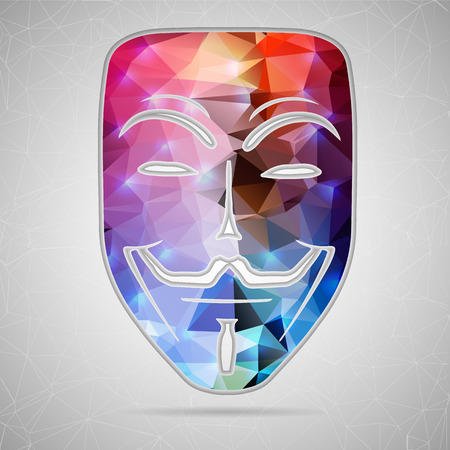 anonymity: Abstract Creative concept vector icon of mask for Web and Mobile Applications isolated on background. Vector illustration template design, Business infographic and social media, origami icons.