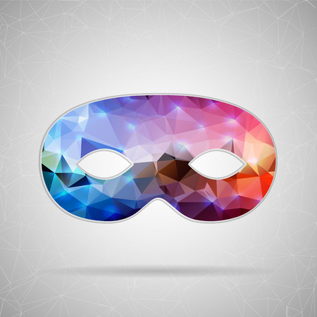 mardi gras: Abstract Creative concept vector icon of mask for Web and Mobile Applications isolated on background. Vector illustration template design, Business infographic and social media, origami icons.