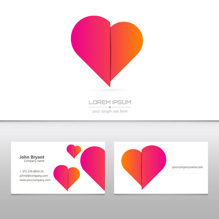 love shape: Abstract Creative concept vector image logo of for web and mobile applications isolated on background, art illustration template design, business infographic and social media, icon, symbol.