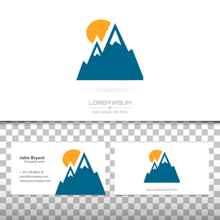 alp: Abstract Creative concept vector logo icon of alp for Web and Mobile Applications isolated on background. Vector illustration template design, Business infographic and social media, origami icons. Illustration