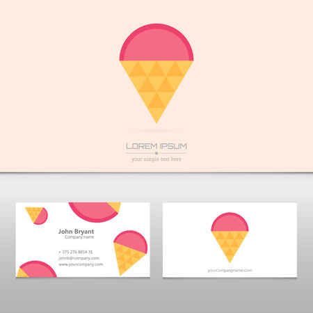 Abstract Creative Concept Vector Icon Of Ice Cream For Web And ...