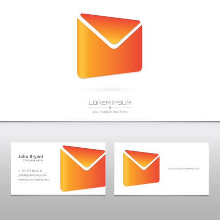 Creative concept vector icon of envelope for Web and Mobile Applications isolated on white background. Vector illustration creative template design, Business software and social media.