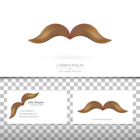 hair mask: Abstract Creative concept vector image logo of mustache for web and mobile applications isolated on background, art illustration template design, business infographic and social media, icon, symbol Illustration