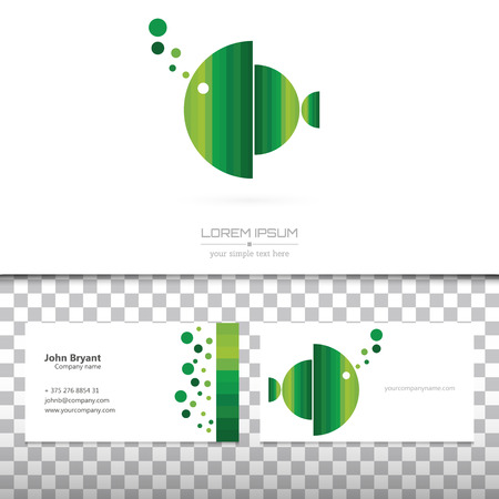 fish form: Abstract Creative concept vector image logo of real estate for web and mobile applications isolated on background, art illustration template design, business infographic and social media, icon, symbol Illustration