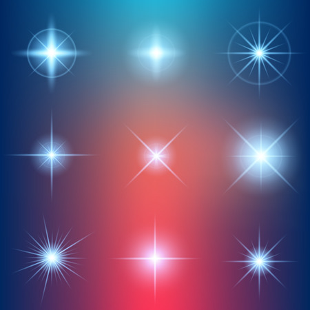 ray of light: Creative concept Vector set of glow light effect stars bursts with sparkles isolated on black background. For illustration template art design, banner for Christmas celebrate, magic flash energy ray.