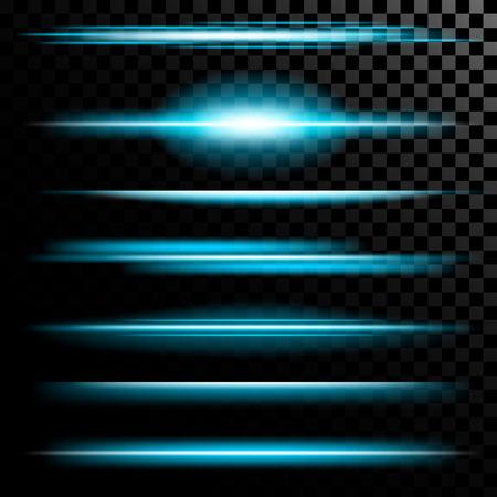 raumschiff: Kreatives Konzept Vektor-Satz von glow Lichteffekt Sterne platzt mit Scheinen auf schwarzem Hintergrund isoliert. Zur Illustration Vorlage Kunst-Design, Banner f�r Weihnachten zu feiern, Magie Blitzenergie ray.