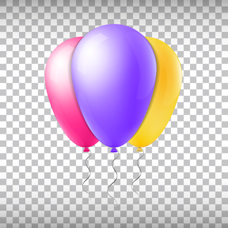 levitation: Abstract creative concept vector flight balloon with ribbon. For Web and Mobile Applications isolated on background, art illustration template design, business infographic and social media icon. Illustration