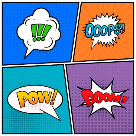 libro caricatura: Abstract Creative concept vector empty speech bubbles set.