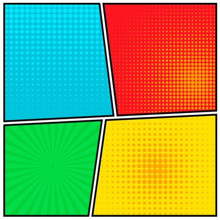 Abstrakt Kreatives Konzept Vektor Comics Pop-Art-Stil leere Layout-Vorlage mit Wolken Balken und isolierte Punkte Muster auf Hintergrund. Standard-Bild - 42310879